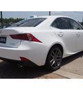 lexus is 250 2014 white sedan gasoline 6 cylinders rear wheel drive automatic 77546