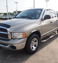 dodge ram 1500 2002 tan pickup truck slt gasoline 8 cylinders rear wheel drive automatic with overdrive 77539