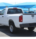 dodge ram 1500 2008 white pickup truck st 6 cylinders automatic 76234