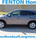 honda cr v 2012 gray suv ex l gasoline 4 cylinders front wheel drive automatic 75606