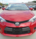 toyota corolla 2015 red sedan 4 cylinders automatic 75569