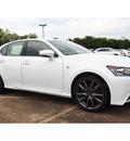 lexus gs 350 2014 white sedan f sport 6 cylinders automatic 77074