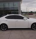lexus is 250 2011 white sedan gasoline 6 cylinders rear wheel drive automatic 77074