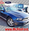 ford mustang 2012 dk  blue coupe gasoline 6 cylinders rear wheel drive not specified 77539